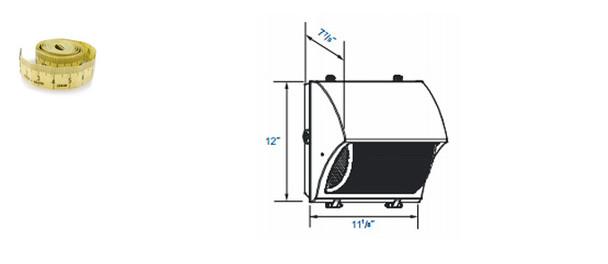 IW3M40 Series 40 Watt Induction  Semi Cutoff 11 inch  Prismatic Wall Pack Light Architectural