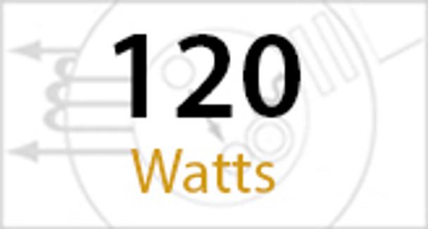 "IW4120 120W Induction Wall Pack, Light Fixture, Wall Mount, Full Cutoff 18"" Dark Sky Compliant 120 Watt"