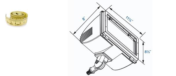 FIM40 Series 40W  Induction Flood Light with Adjustable Pivot Mounting 40 Watt