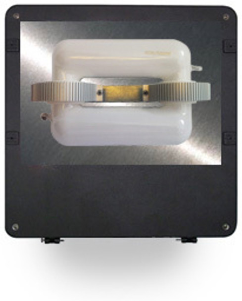 "FI100 100W Induction Square Flood Shoebox Area Light Fixture 16"" Parking Lot Light 5000K"