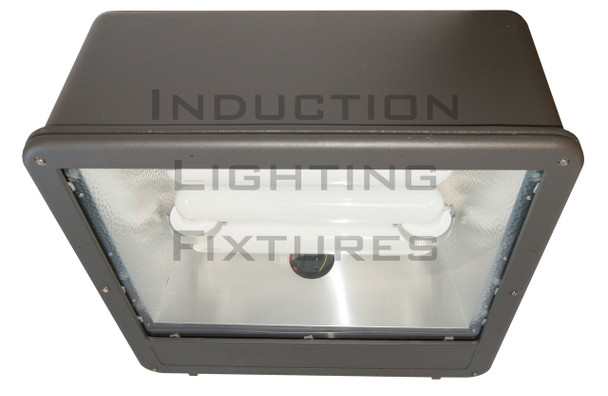 "FSWS120 Series 120W Induction Shoe Box Light Fixture 23"" Housing, Wide Angle Reflector, Flood Light , Parking Lot Light 120 watt"