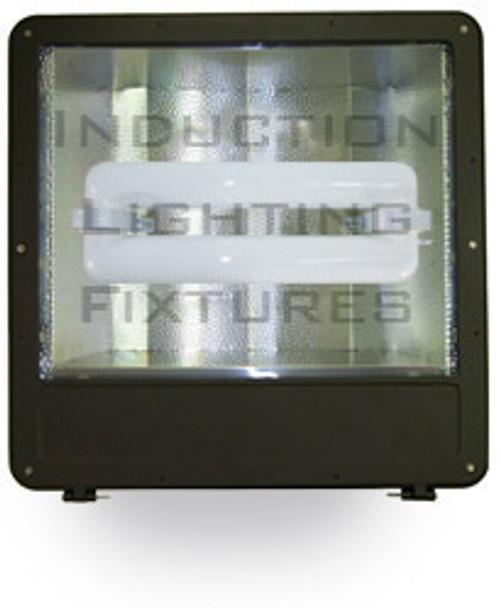 "FSWS200 200W Induction Shoe Box Light Fixture 23"" Housing, Wide Angle Reflector, Flood Light, Parking Lot Light 5000K"