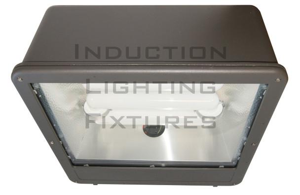 """FSWS400 Series 400W Induction Shoe Box Light Fixture 23"""" Housing, Wide Angle Reflector, Flood Light , Parking Lot Light 400 watt"""