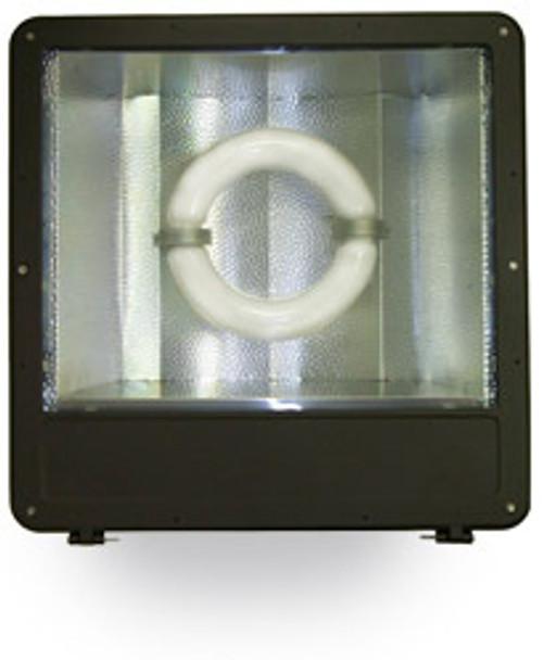"FSWR120 120W Induction Shoe Box Light Fixture 23"" Housing, Wide Angle Reflector, Flood Light, Parking Lot Light 120 watt"