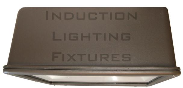 """FSDR200 200w Induction Shoe Box Light Fixture 23"""" Housing Smooth Reflector, Flood Light, Parking Lot Light 5000K"""