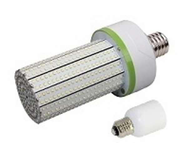 80 Watt LED   Corn Light   LED Cluster   360 Degree Beam Angle Lamp with Medium (E26/27) Base Adapter UL Listed 5000K HID Replacement