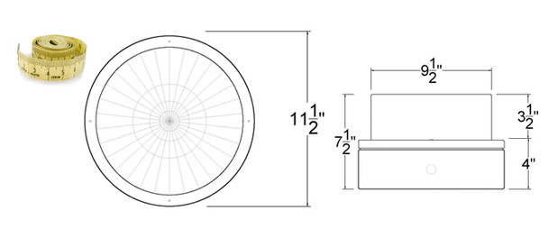 """IGF3M80 80w Induction Parking Garage Fixture / 12"""" Round Fixture for Surface and Canopy Mounting"""