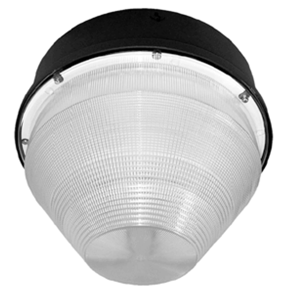 "IGF540 40w Induction Parking Garage Fixture with Conical 15"" Round Cone Lens for Parking Garage Lighting 40 watt"