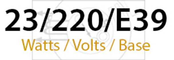 LVD Venus 23W Induction Self Ballasted Retrofit Lamp E39 Mogul Base 240v 23 Watt