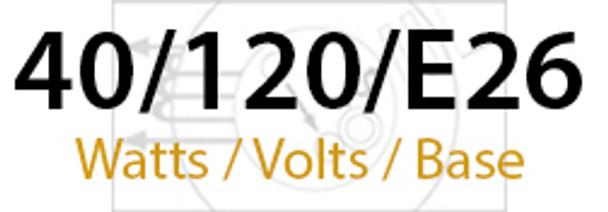 LVD Venus Series 40W Induction Self Ballasted Retrofit Lamp E26 Medium Base 120v 40 Watt