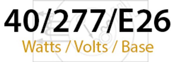 LVD Venus 40W Induction Self Ballasted Retrofit Lamp E26 Medium Base 277v 40 Watt 5000K