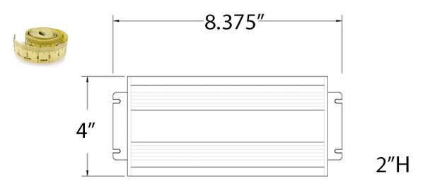 LVD 100w Induction Electronic Ballast Power Supply 110-277v LVD-WJ110-277/60-100DJF 100 Watt **Ballast Only**