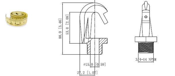 HK1 High and Low Bay Fixture Screw In Hook