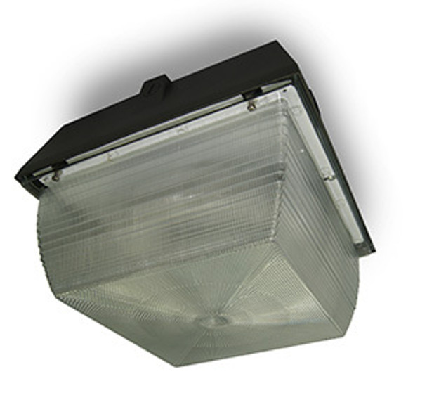 """26w LED 120v Parking Garage Fixture 12"""" Square Fixture for Surface and Canopy Mounting 26 Watt"""