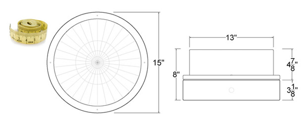 """LG326-120 26w LED 120v Parking Garage Fixture 15"""" Round Fixture for Surface and Canopy Mounting 26 Watt"""