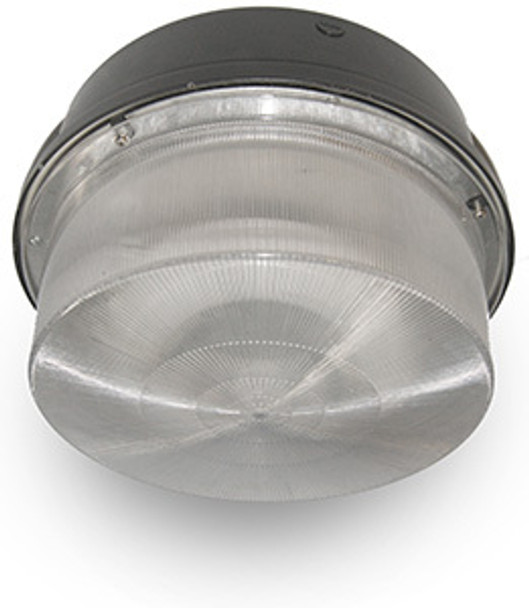 """52w LED 120v Parking Garage Fixture 15"""" Round Fixture for Surface and Canopy Mounting 52 Watt"""