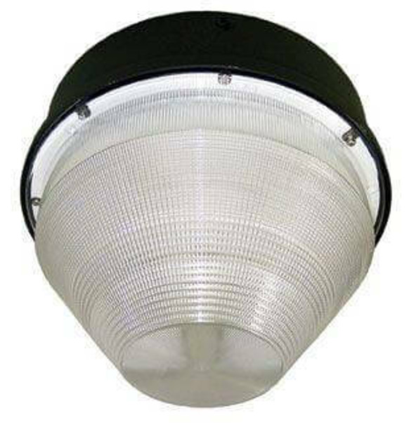 """26w LED 120v Parking Garage Fixture Conical 12"""" Round Cone Fixture for Surface and Canopy Mounting 26 Watt"""