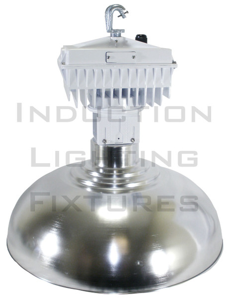 "100W Induction 22"" Aluminum Low Bay Hanging Warehouse Light Fixture 100 watt"