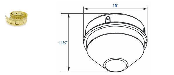"""26w LED 277v Parking Garage Fixture Conical 12"""" Round Cone Fixture for Surface and Canopy Mounting 26 Watt"""