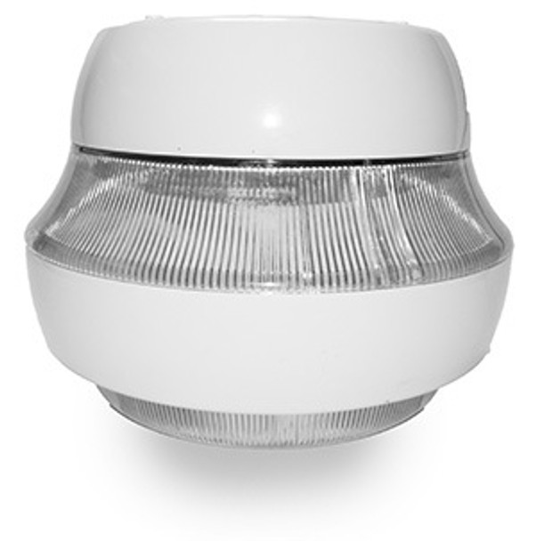 """52w LED 120v Parking Garage Fixture White 15"""" Round Fixture for Surface and Canopy Mounting 52 Watt"""