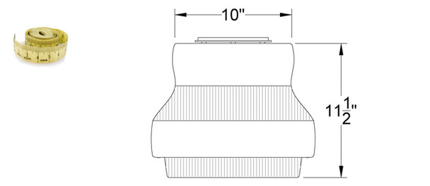 """LG652-120 52w LED 120v Parking Garage Fixture White 15"""" Round Fixture for Surface and Canopy Mounting 52 Watt"""