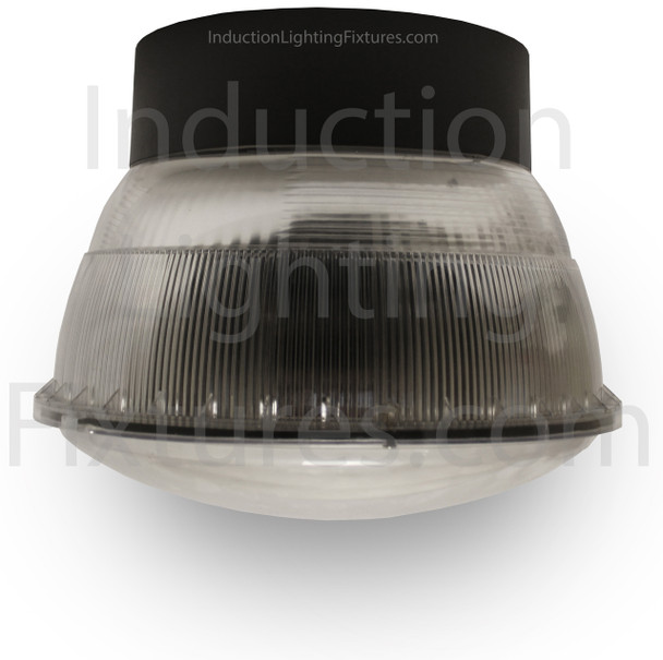 """52w LED 120v Parking Garage Fixture Aluminum 16"""" Round Fixture for Surface and Canopy Mounting 52 Watt"""