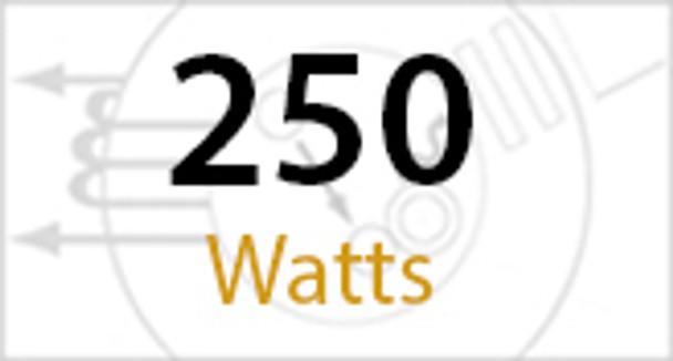 "1SBL250 Series 250 Watt Induction Shoe Box Light Fixture and Area Light 23"" Round Lamp Type V Reflector"