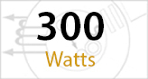 "1SBL300 Series 300 Watt Induction Shoe Box Light Fixture and Area Light 23"" Round Lamp Type V Reflector"
