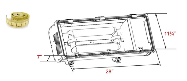 ITL1200 Series 200 watt Induction Street  and Tunnel light Fixture 28 inch Length Surface Mount