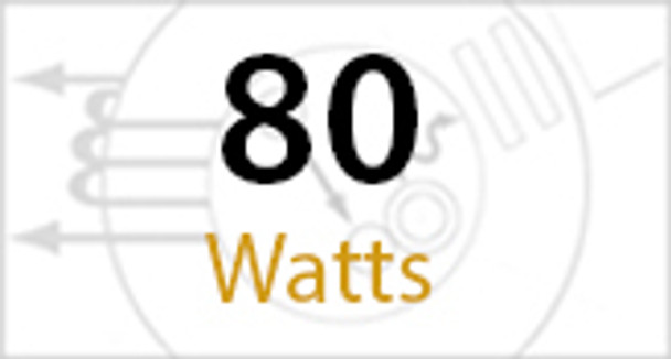 IW2C80 Series 80 Watt Induction  180 Degree Cutoff 15 Inch Round  Wall Pack Light