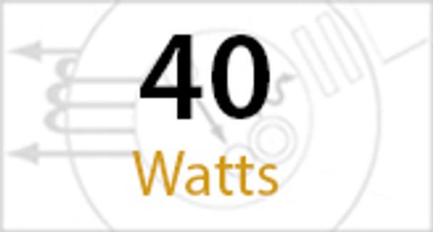 IW3C40 Series 40 Watt Induction Wall Pack light Wall Mount Fixture Round 15 inch. Diameter  Grid Top Frame