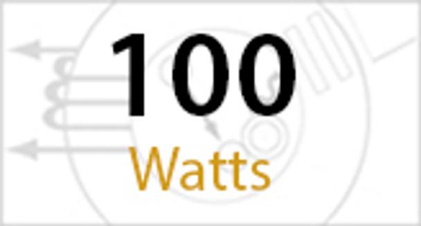 IW3C100 Series 100 Watt Induction Wall Pack Wall Mount Fixture Round 15 inch. Diameter  Grid Top Frame