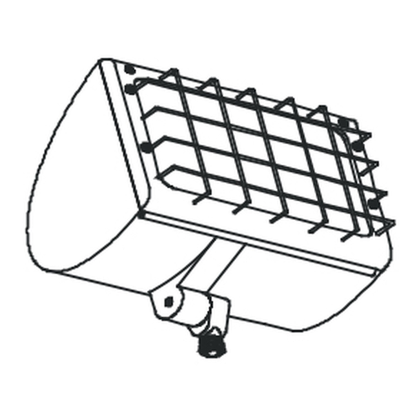 Wire Guard for Small Round Back Flood Fixture