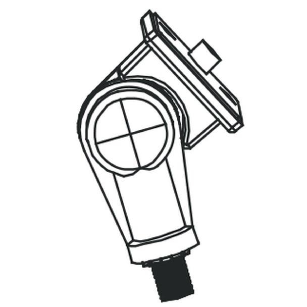 Adjustable Knuckle for Small Round Back Flood Fixture