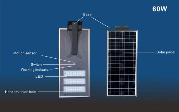 LAR60 60W All-In-One Solar LED Street Light