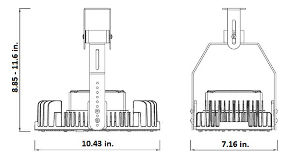 IRK150-4K 150 Watt LED Retrofit Module & External Power Supply 4000K Color Temp Yoke Mount Optional