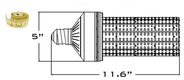 120 Watt LED Corn Light ,LED Corn Cob, LED Cluster, LED 360 Degree Beam Angle Lamp with Mogul (E39/40) Base with External Power Supply 3000K