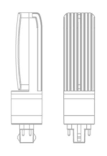 ICFH12-3K 12 Watt Type AB LED PL light Bulb 140 degree Beam Angle 3000K, 32w Ballast Compatible 32w CFL Replacement