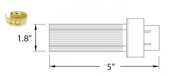 9 Watt LED PL light Bulb Cornlight with 360 degree Beam Angle 3000K, 20w CFL Replacement