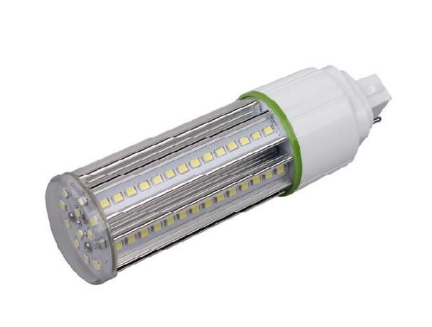 12 Watt LED Corn Light, LED CornCob PL, LED Cluster 360 Degree Beam Angle Lamp with with G24d (2 Pin) Base 3000K