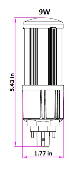 ICS9-3K4 9 Watt LED Corn Light, LED CornCob PL, LED Cluster 360 Degree Beam Angle Lamp with with G24q (4 Pin) Base 3000K