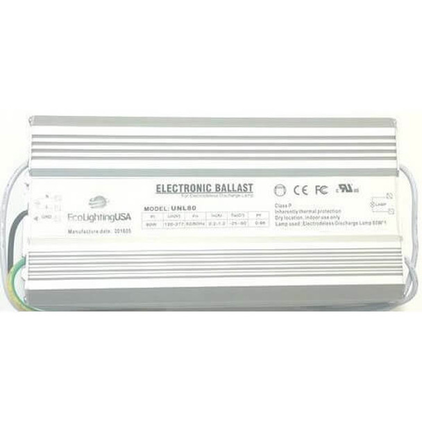 ILBALJK80 80w Induction Electronic Ballast Power Supply 110-277v Compatible with JK 10601080H01 and JK WJY80DH01-U (Ballast Only)