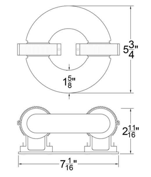 ILRLB Series 40W Induction Circular Light Round Replacement Lamp 4000K 40 Watt Replacement for JK RT40W  103WJY040HRL01