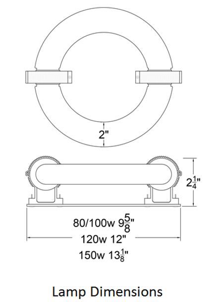 ILRLB Series 150W Induction Circular Light Round Replacement Lamp 5000K 150 Watt Replacement for JK RT150W 103WJY150HRZ01