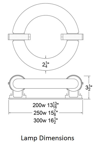 ILRLB4K-200JK 200W Induction Circular Light Round Replacement Lamp 4000K 200 Watt Replacement for JK RT200W 103WJY200HRL01