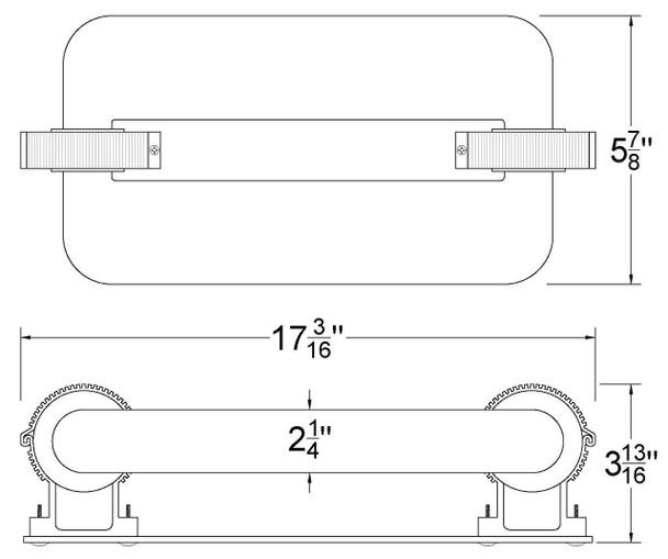 ILSLB4K-200JK 200W Induction Rectangular Light Square Replacement Lamp 4000K 200 Watt Replacement for ST200W 103WJY200JRL01