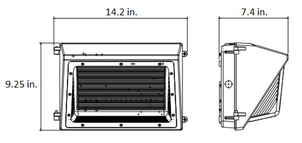 25 Watt LWP Series Classic Style LED Wall Pack Outdoor light. DLC Cert.