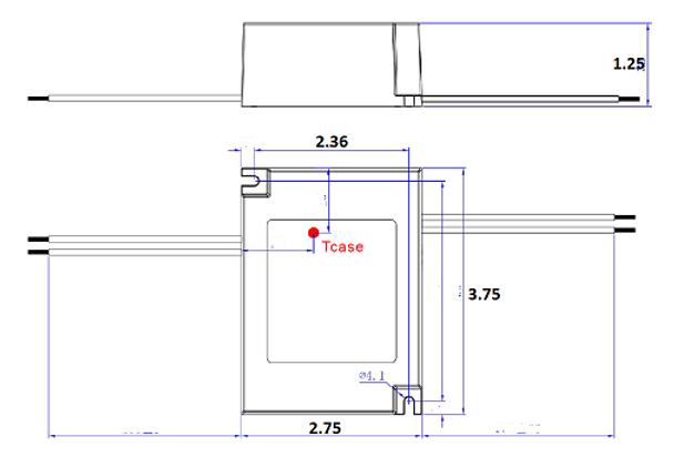 ILLA-42070 42w LED Power Supply 120v-277v Constant Current LED Driver 42 Watt, 36-56vdc, .70 amps