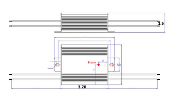 ILLA-60142 60w LED Power Supply 120v-277v Constant Current LED Driver 60 Watt, 30-42vdc, 1.42 amps