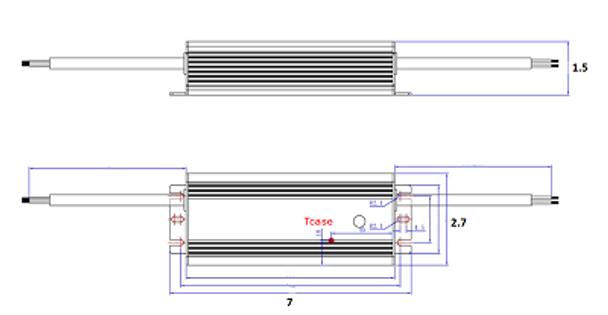 ILLA-80168 80w LED Power Supply 120v-277v Constant Current LED Driver 80 Watt, 36-48vdc, 1.68 amps